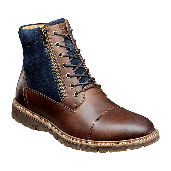 Stacy Adams Mens Griffyth Flat Heel Lace Up Boots