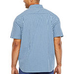 The Foundry Big & Tall Supply Co. Mens Short Sleeve Button-Down Shirt - Big and Tall