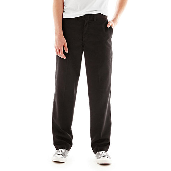 Dickies® Young Adult Sized Classic Fit Straight Leg Flat Front Pants