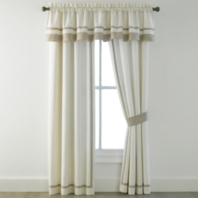 Bensonhurst Light-Filtering Rod-Pocket Set of 2 Curtain Panel