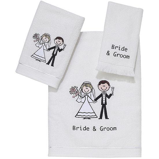 Avanti Bride and Groom Bath Towels