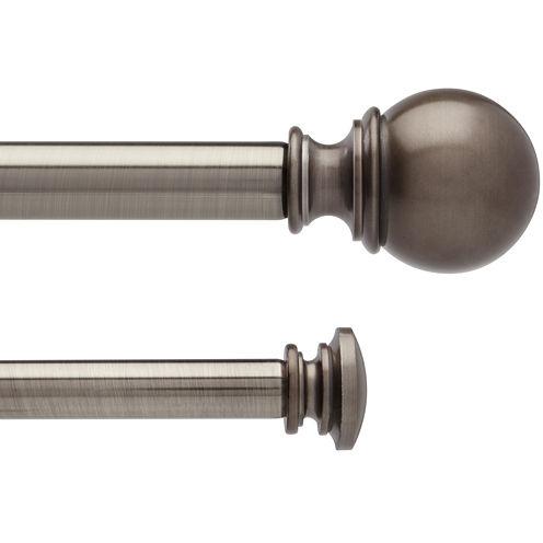 Liz Claiborne® Sierra Ball Double Adjustable Curtain Rod
