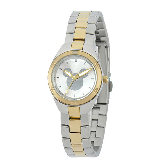 Disney Mickey Mouse Womens Two-Tone Stainless Steel Watch