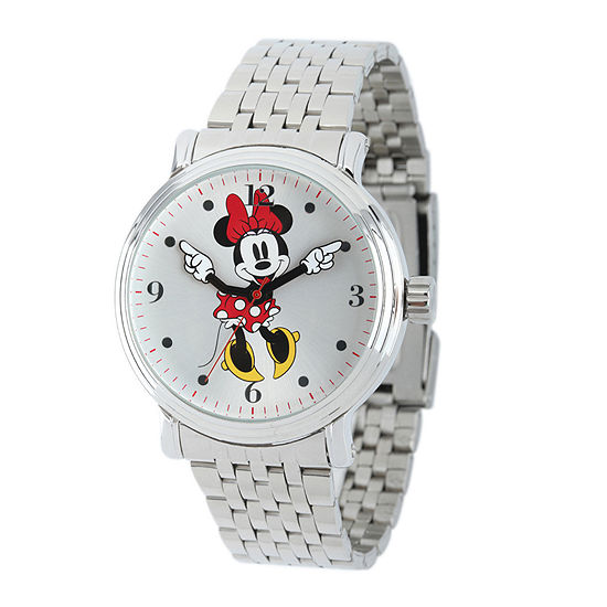 Disney Minnie Mouse Mens Stainless Steel Watch