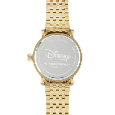 Disney Mickey Mouse Mens Gold-Tone Stainless Steel Vintage-Style Watch