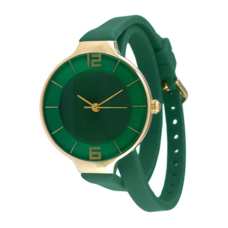 TKO ORLOGI Womens Green Silicone Strap Wrap Watch