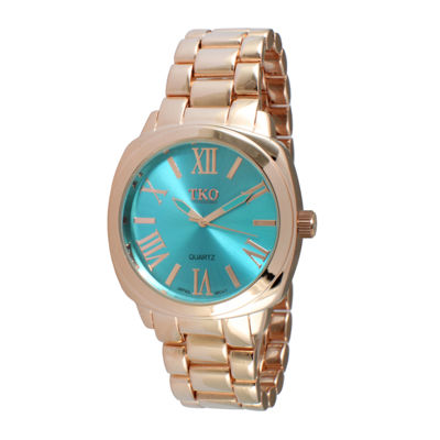 TKO ORLOGI Womens Light Blue Dial Boyfriend Bracelet Watch