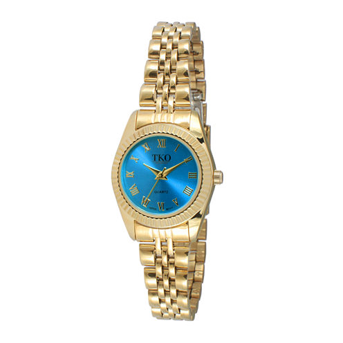 TKO ORLOGI Womens Light Blue Dial Petite Bracelet Watch