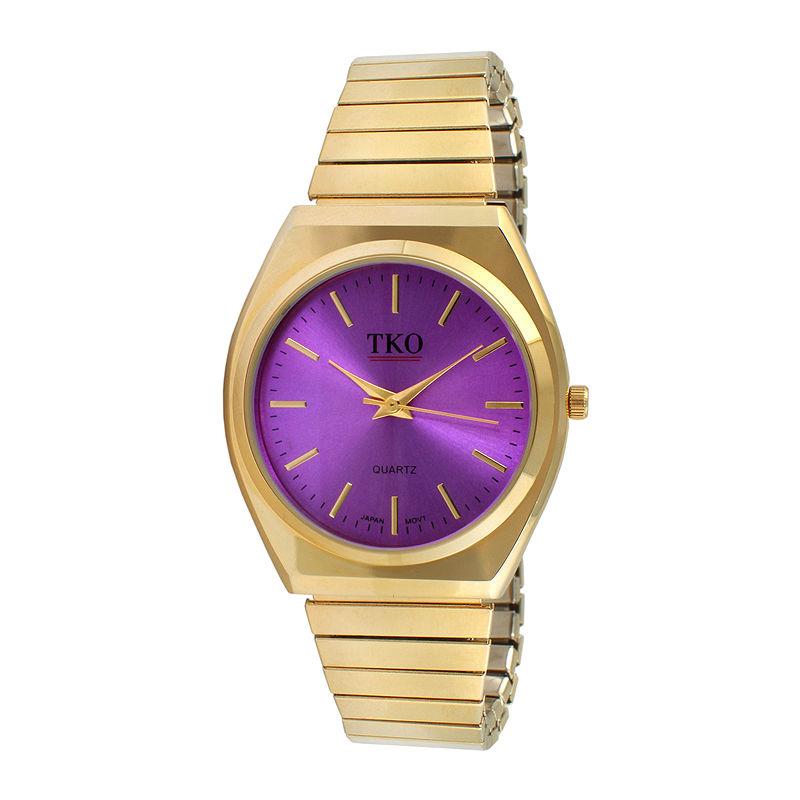 TKO ORLOGI Womens Purple Dial EZ Flex Expansion Bracelet Watch