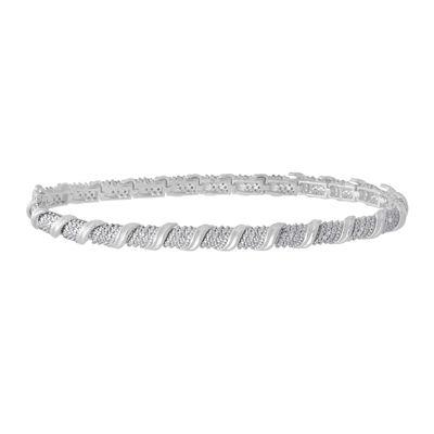 Womens White Diamond Tennis Bracelet