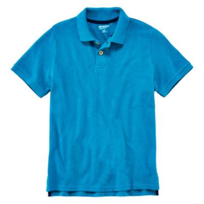 Arizona Short-Sleeve Solid Knit Polo Boys 8-20
