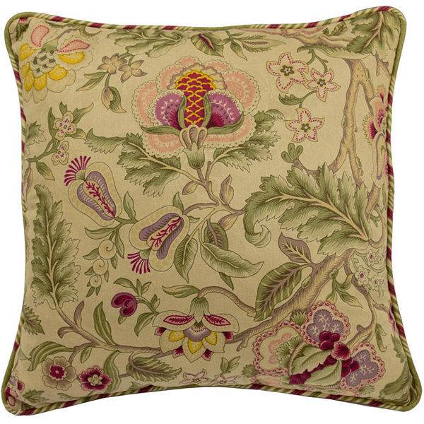 "Waverly® Imperial Dress Antique 18"" Square Decorative Pillow"