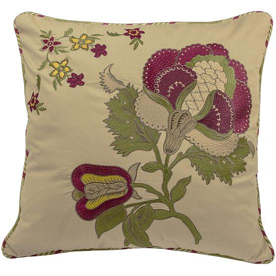 "Waverly® Imperial Dress Antique 20"" Square Decorative Pillow"
