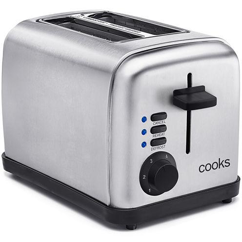 Cooks 2-Slice Stainless Steel Toaster