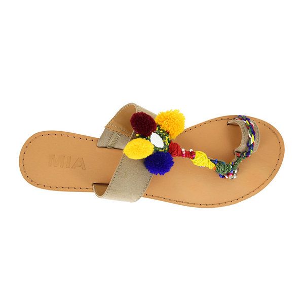 Mia Girl® Dulcia Pompom Sandals