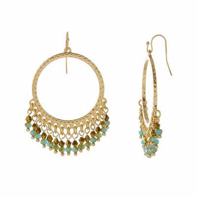 Natasha Shakey Beaded Gold-Tone Earrings