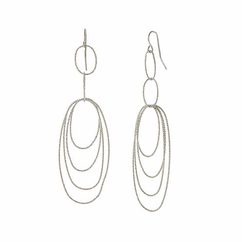 Natasha Silver-Tone Multi-Layer Earrings