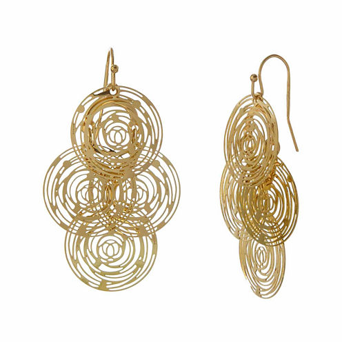 Natasha Modern Gold-Tone Drop Earrings
