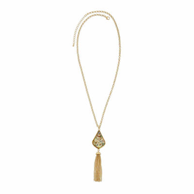 Natasha Multicolor Stone Gold-Tone Necklace