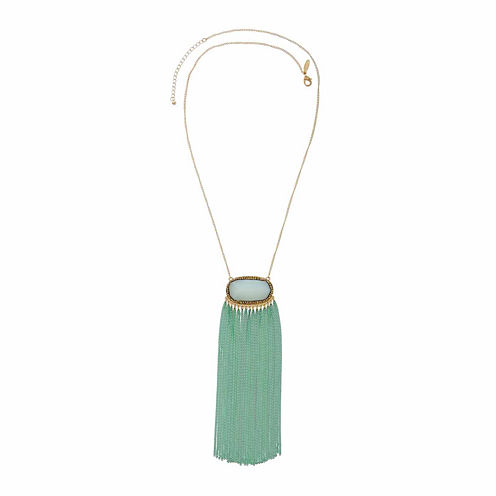 Natasha Multicolor Stone Gold-Tone Necklace