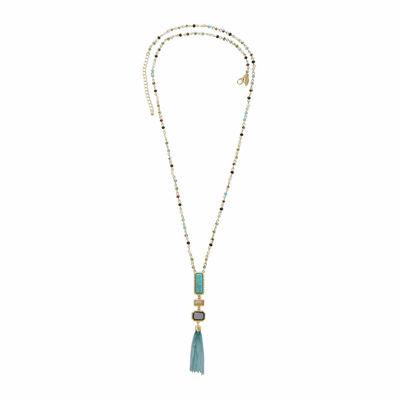 Natasha Multi-Stone Gold-Tone Necklace