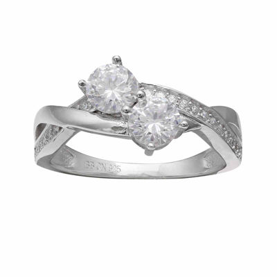 Silver Enchantment Cubic Zirconia Intertwining Ring
