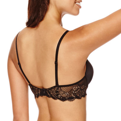 Ambrielle® Sensual Shine Push Up Bra with Lace