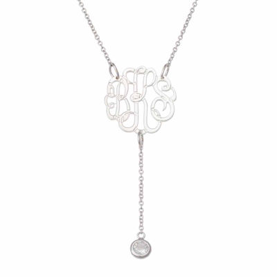 Personalized Monogram Y Pendant Necklace