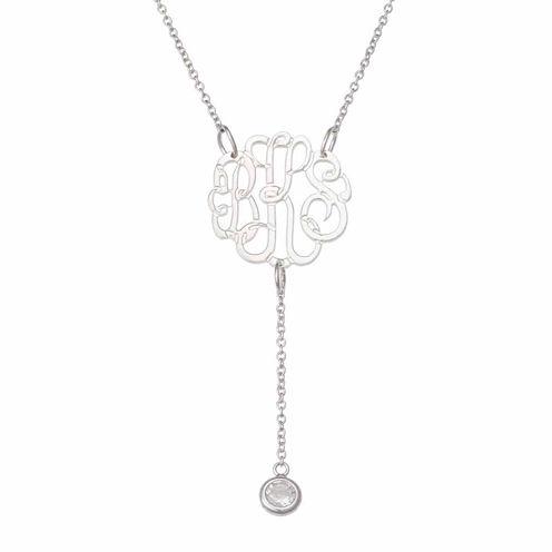 Personalized Monogram Y Pendant Necklace