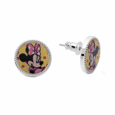 Disney Minnie Mouse Brass Stud Earrings