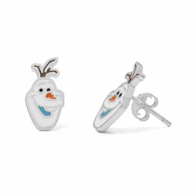 Disney Olaf Sterling Silver Stud Earrings