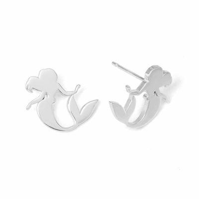 Disney Ariel Sterling Silver Stud Earrings