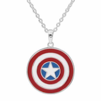 Marvel® Captain America™ Brass Pendant Necklace