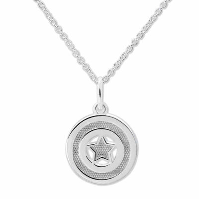 Marvel® Captain America™ Sterling Silver Pendant Necklace
