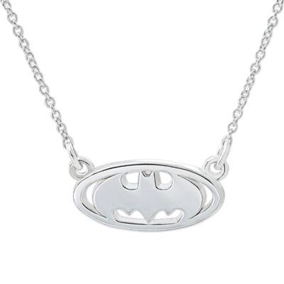 DC Comics® Batman Sterling Silver Pendant Necklace