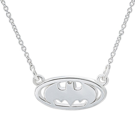 DC Comics® Batman Sterling Silver Pendant Necklace