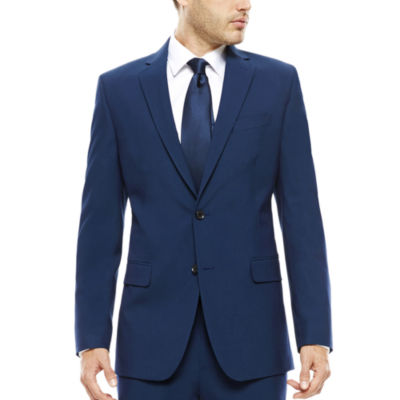 JF J. Ferrar® Blue Stretch Suit Jacket - Classic Fit