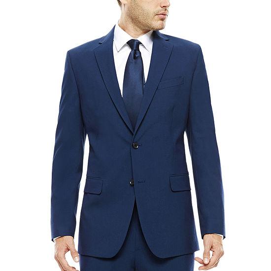 JF J. Ferrar® Blue Stretch Suit Jacket - Classic Fit
