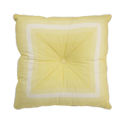 Waverly Paisley Verveine Tufted Stripe Square Decorative Pillow