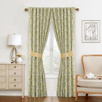 Waverly Rod-Pocket Single Curtain Panel