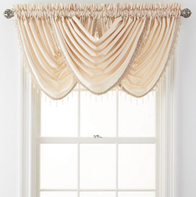 Plaza Thermal Interlined Rod-Pocket Waterfall Valance