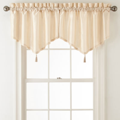 Plaza Thermal Interlined Rod-Pocket Ascot Valance