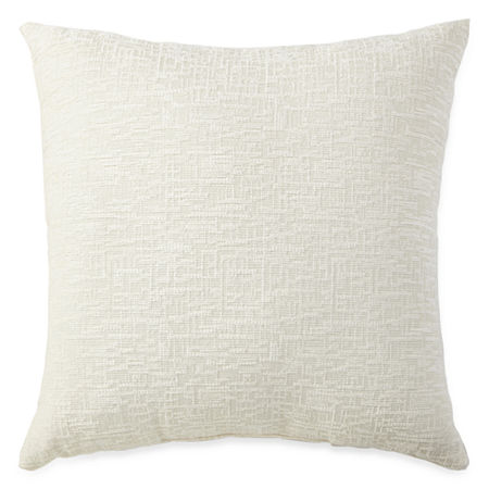 JCPenney Home Oversized Chenille Decorative Pillow, One Size , White