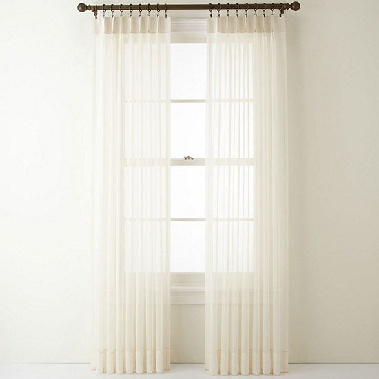 Home Expressions Lisette Sheer Pinch-Pleat Set of 2 Curtain Panel
