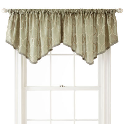 Royal Velvet® Geneva Embroidered Rod-Pocket Ascot Valance