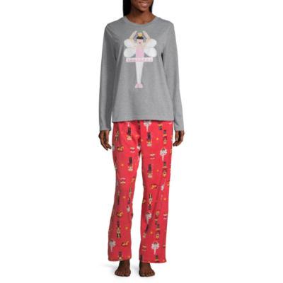 Secret Santa The Nutcracker Family Womens Pant Pajama Set 2-pc. Long Sleeve