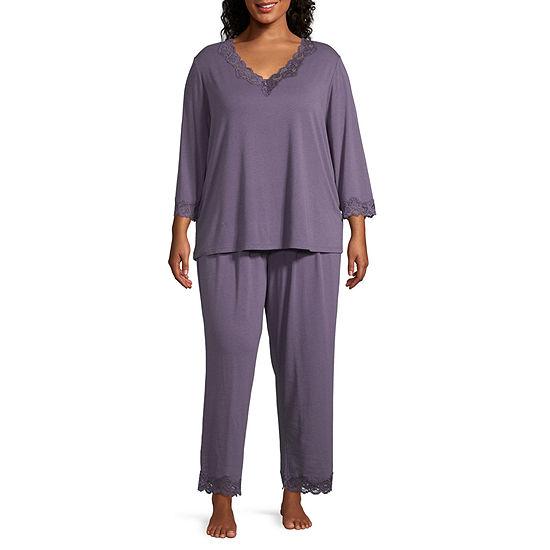 Liz Claiborne 3/4 Sleeve Family Womens Pant Pajama Set 2-pc.