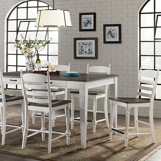 Belgium 7-Piece Counter Height Dining Set