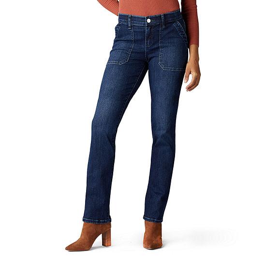Lee Flex Motion Womens Mid Rise Straight Leg Jean