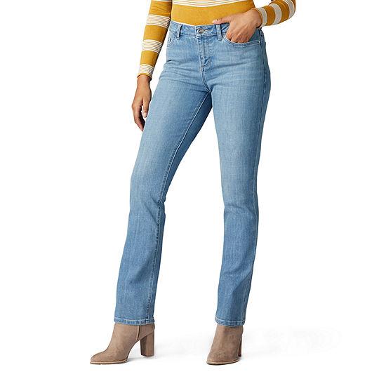 Lee® Legendary Straight Leg Womens Mid Rise Straight Regular Fit Jean